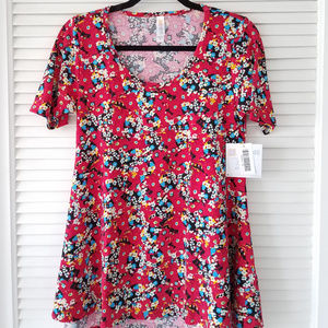 New LuLaRoe Perfect T-Fushia/Multi Colored Floral